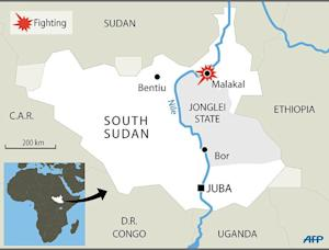 Map of South Sudan locating the recent clashes in  …