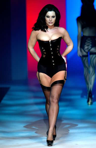 Immodesty Blaize on the Lingerie London catwalk © Rex