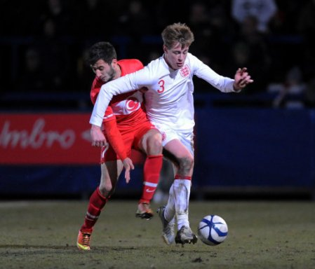 Soccer - International Friendly - England U19s v Turkey U19s - The New Bucks Head Stadium