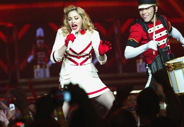 Madonna Hits Raw Nerve With Gun Play at Denver Show