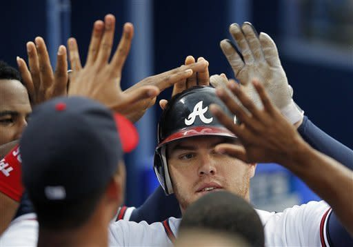 Beachy throws shutout, Braves beat Marlins 7-0