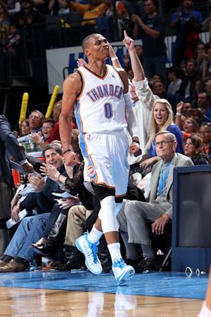 Westbrook's spree spurs Thunder past Cavs 106-91