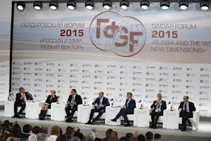 Panelists, from left: former Russian Finance Minister …