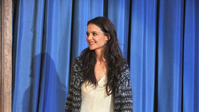 """Katie Holmes Visits """"Late Night With Jimmy Fallon"""""""