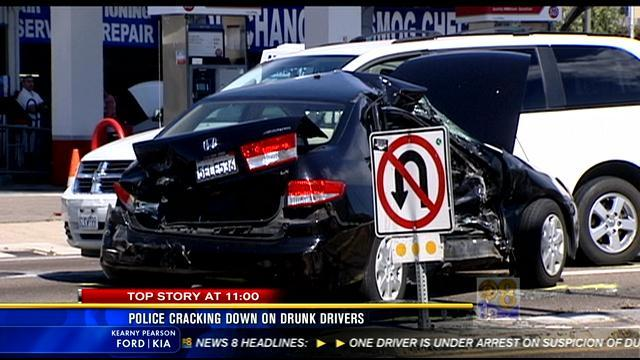 11PM UPDATE: Police cracking down on drunk drivers