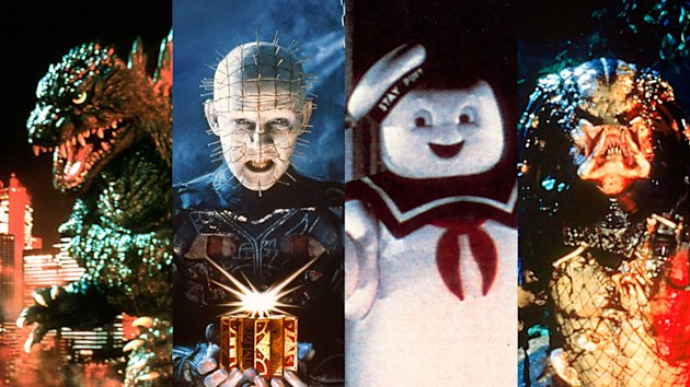 Godzilla, Pinhead, the Stay Puft Marshmellow Man and the Predator