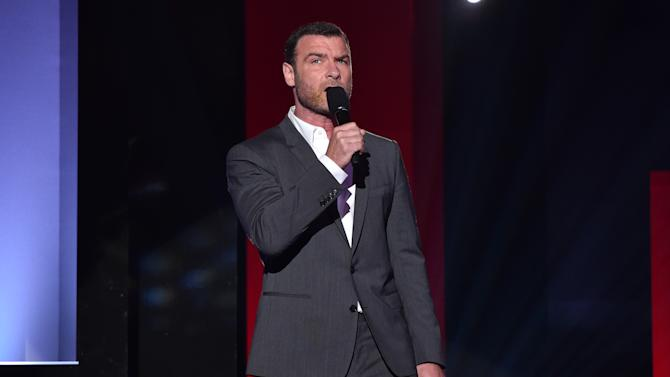 Liev Schreiber speaks on stage at the iHeartRadio Music Awards at The Shrine Auditorium on Sunday, March 29, 2015, in Los Angeles.  (Photo by John Shearer/Invision for iHeartRadio/AP Images)