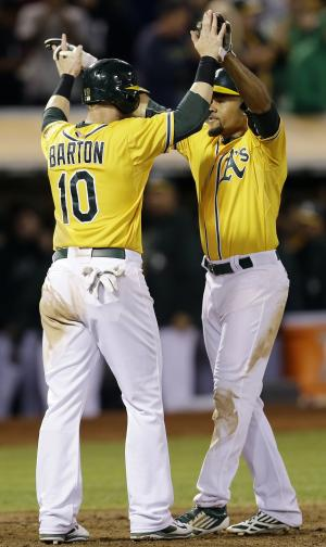 A's lower magic number to 4 for AL West title