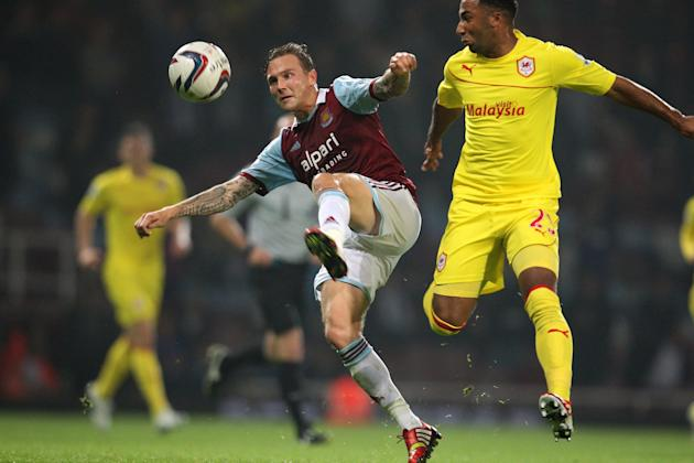 Soccer - Capital One Cup - Third Round - West Ham United v Cardiff City - Upton Park