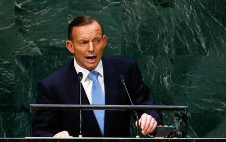 Tony Abbott, Prime Minister of Australia, addresses the 69th United Nations General Assembly at the U.N. headquarters in New York