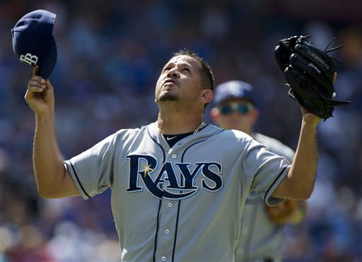 Hellickson wins again, Rays beat Blue Jays 4-3