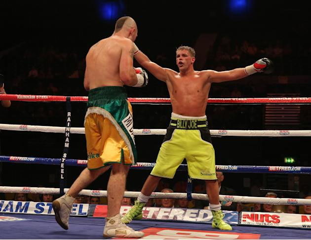 Boxing - Vacant WBO International Middleweight Title - Gary O'Sullivan v Billy Joe Saunders - Wembley Arena