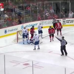 Jonathan Bernier Save on Travis Zajac (00:31/2nd)