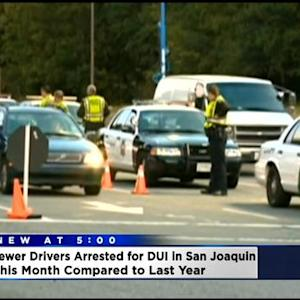 Police: Fewer DUI Arrests In San Joaquin County Compared To Same Time Last Year