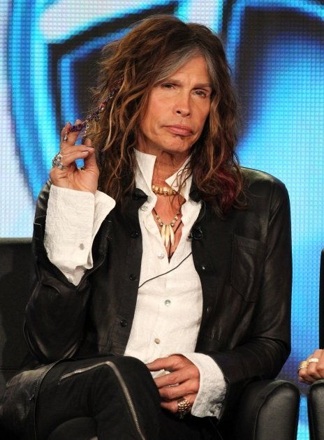 Steven Tyler speaks during the 'American Idol' panel during the FOX Broadcasting Company portion of the 2012 Winter TCA Tour at The Langham Huntington Hotel and Spa, Pasadena, on January 8, 2012  -- G