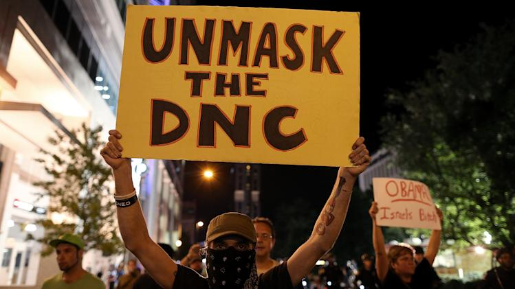DNC protesters