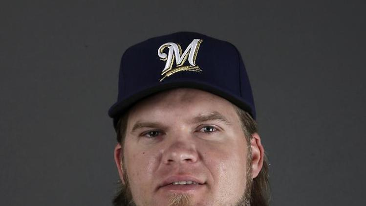 This is a 2013 photo of Corey Hart of the Milwaukee Brewers baseball team.  This image reflects the Brewers active roster as of Sunday, Feb. 17, 2013