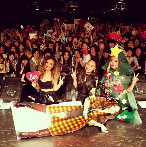 Little Mix Perform With Cardboard Cut-Out Jesy Nelson
