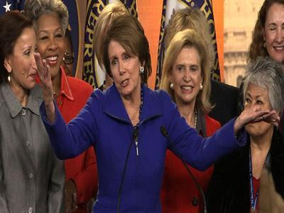 "Raw: Pelosi laughs off ""offensive"" age question"