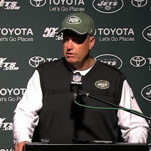 New York Jets head coach Rex Ryan down after loss to New England Patriots