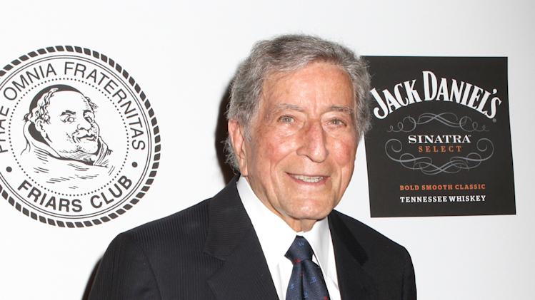 Musician Tony Bennett poses for photos at the Friars Club Roast of Don Rickles at the Waldorf Astoria on Monday, June 24, 2013 in New York. (Photo by Greg Allen/Invision/AP)
