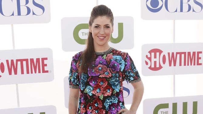 FILE - In this July 29, 2012 file photo, Mayim Bialik attends the CBS, Showtime and The CW 2012 TCA summer tour party at 9900 Wilshire Blvd, in Beverly Hills, California. Court records show Bialik filed for divorce on Nov. 21, 2012, the same day she announced her split from husband Michael Stone after nine years of marriage. (Photo by Todd Williamson/Invision/AP, File)