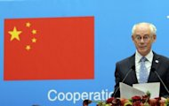"<p>EU Council President Herman Van Rompuy speaks at an EU-China business summit in Brussels on September 20. European Union President Herman Van Rompuy called on Monday for a fresh sense of urgency in tackling the eurozone debt crisis going into a ""crucial"" summit of national EU leaders next month.</p>"