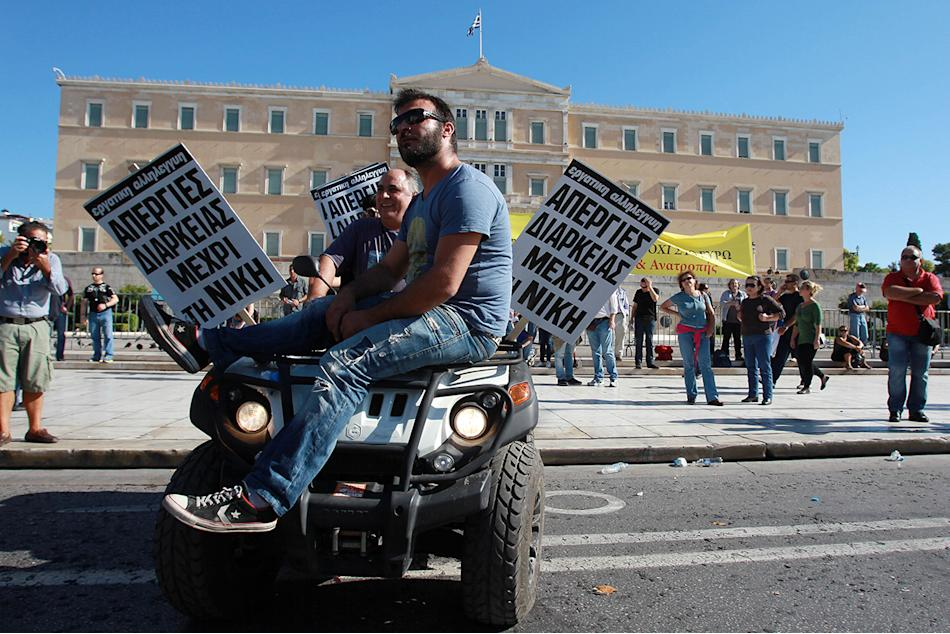 Greece Debt Crisis: General Strike and Austerity