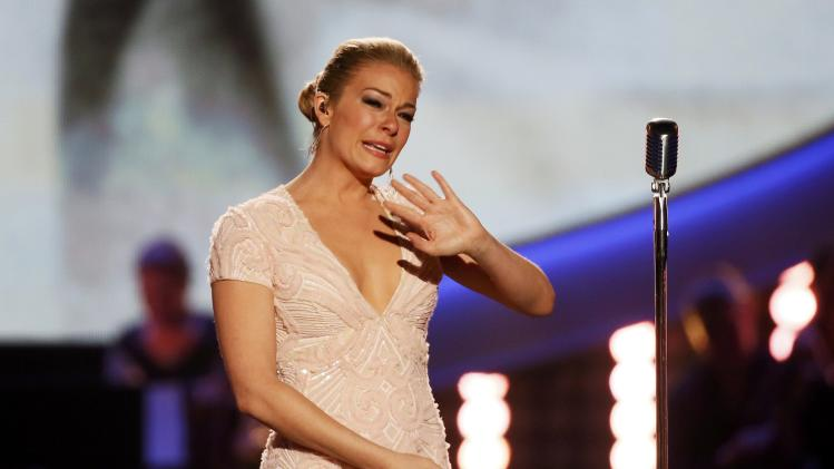 Rimes performs a medley of Patsy Cline songs during the 4th annual American Country Awards in Las Vegas