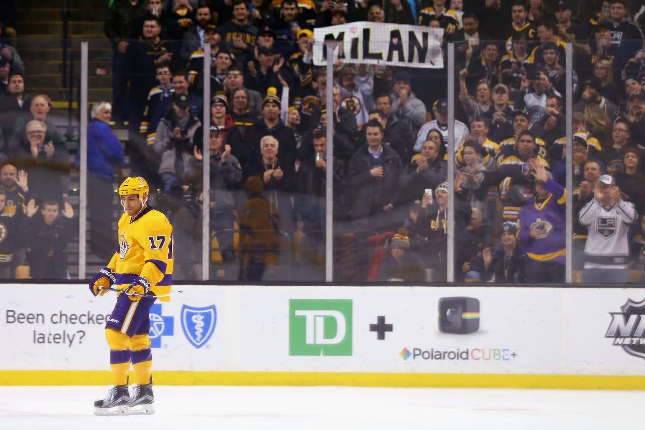 NHL Tuesday: Milan Lucic makes his return to Boston
