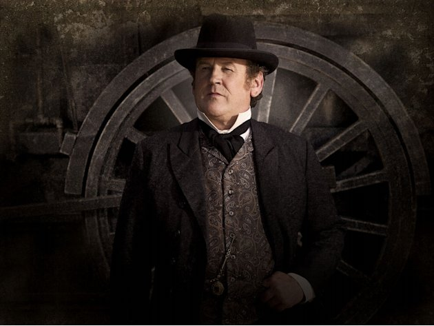 "Colm Meaney stars as Thomas ""Doc"" Durant in ""Hell on Wheels."""
