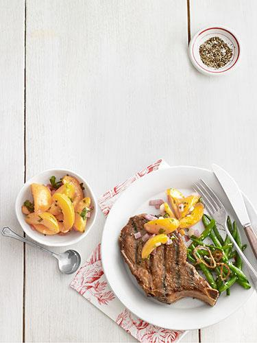 Grilled Pork Chop with Zesty Apricots