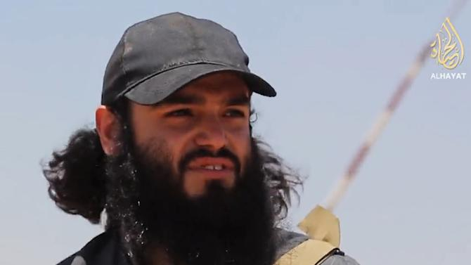 Image taken from a video released on June 29, 2014 by the jihadist terrorist group Islamic State of Iraq and Syria (ISIS), allegedly shows Chilean jihadist Abu Safiyya