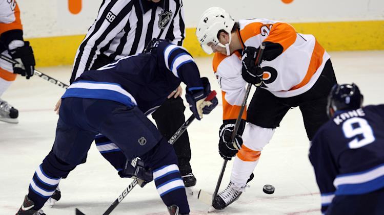 NHL: Philadelphia Flyers at Winnipeg Jets