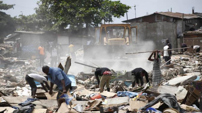 Nigeria's big city razes homes as poor left behind