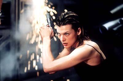 Milla Jovovich as Alice in Screen Gems' Resident Evil