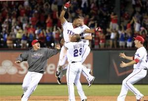 Andrus, Rangers win wild game over Angels