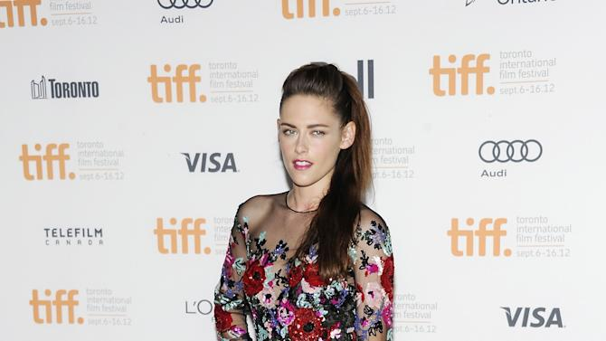 "Actress Kristen Stewart is shown at the gala premiere for ""On the Road"" during the Toronto International Film Festival on Thursday Sept. 6, 2012 in Toronto. (Photo by Evan Agostini/Invision/AP)"