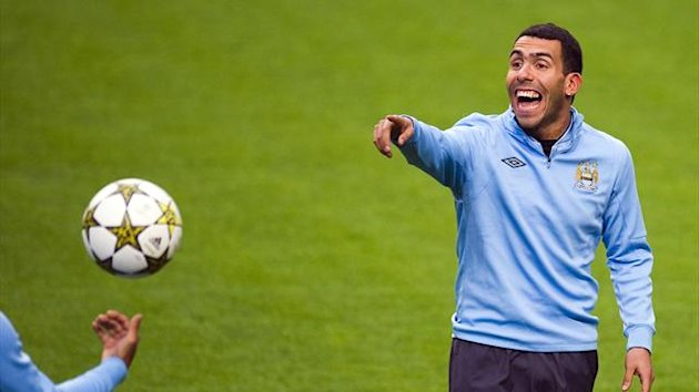 Manchester City striker Carlos Tevez, October 2012