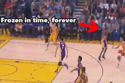 Lou Williams' defensive strategy against Steph Curry is pretend to be a statue, apparently