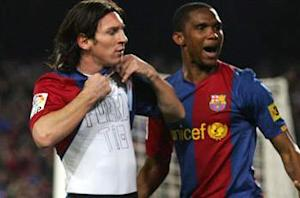 Eto'o: Messi is a god
