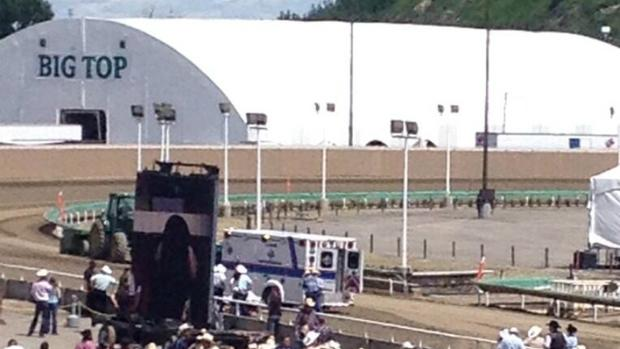 EMS is on scene at the Calgary Stampede after a skydiver was injured just before 2 p.m. MT.