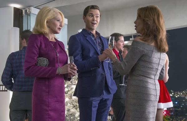 Exclusive New Normal First Look: Bryan and Jane Drop By Marlo Thomas' Holiday Party