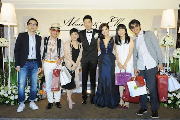 From left: Taiwanese veteran TV hosts Harlem Yu, Huang Zi Jiao, Chang Hsiao-yen, Alvin and Ella, Matilda Tao and husband Li Li-Ren