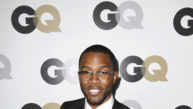 """FILE - In this Nov. 17, 2011 file photo, Frank Ocean arrives at the 16th annual GQ """"Men of the Year"""" party in Los Angeles. There has been a small shift with homophobia's standing in hip-hop, and that's partially thanks to Frank Ocean, who revealed on his blog in July 2012 that his first love was a man.  (AP Photo/Matt Sayles, File)"""
