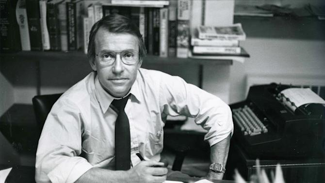 In this March 18, 1982 photo released by ABC, ABC News Richard Threlkeld is shown in his office in New York. Threlkeld, who worked for ABC News from 1982-89 and spent the majority of his career at CBS News, died Friday, Jan. 13, 2012, in Amagansett, N.Y., and was pronounced dead at Southampton Hospital. He lived nearby in East Hampton.(AP Photo/ABC Photo Archives)