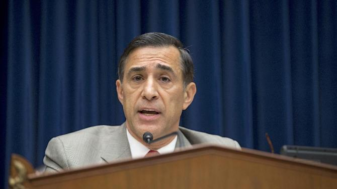 House Oversight Committee Chairman Rep. Darrell Issa, R-Calif., delivers his opening statement on Capitol Hill in Washington, Wednesday, Oct. 10, 2012, during the committee's hearing on the attack on the American consulate in Benghazi, Libya that resulted in the death of U.S. Ambassador Christopher Stevens. (AP Photo/J. Scott Applewhite)