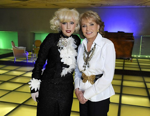 "Barbara Walters interviews Lady Gaga for ""Barbara Walters Presents: The 10 Most Fascinating People of 2009."""