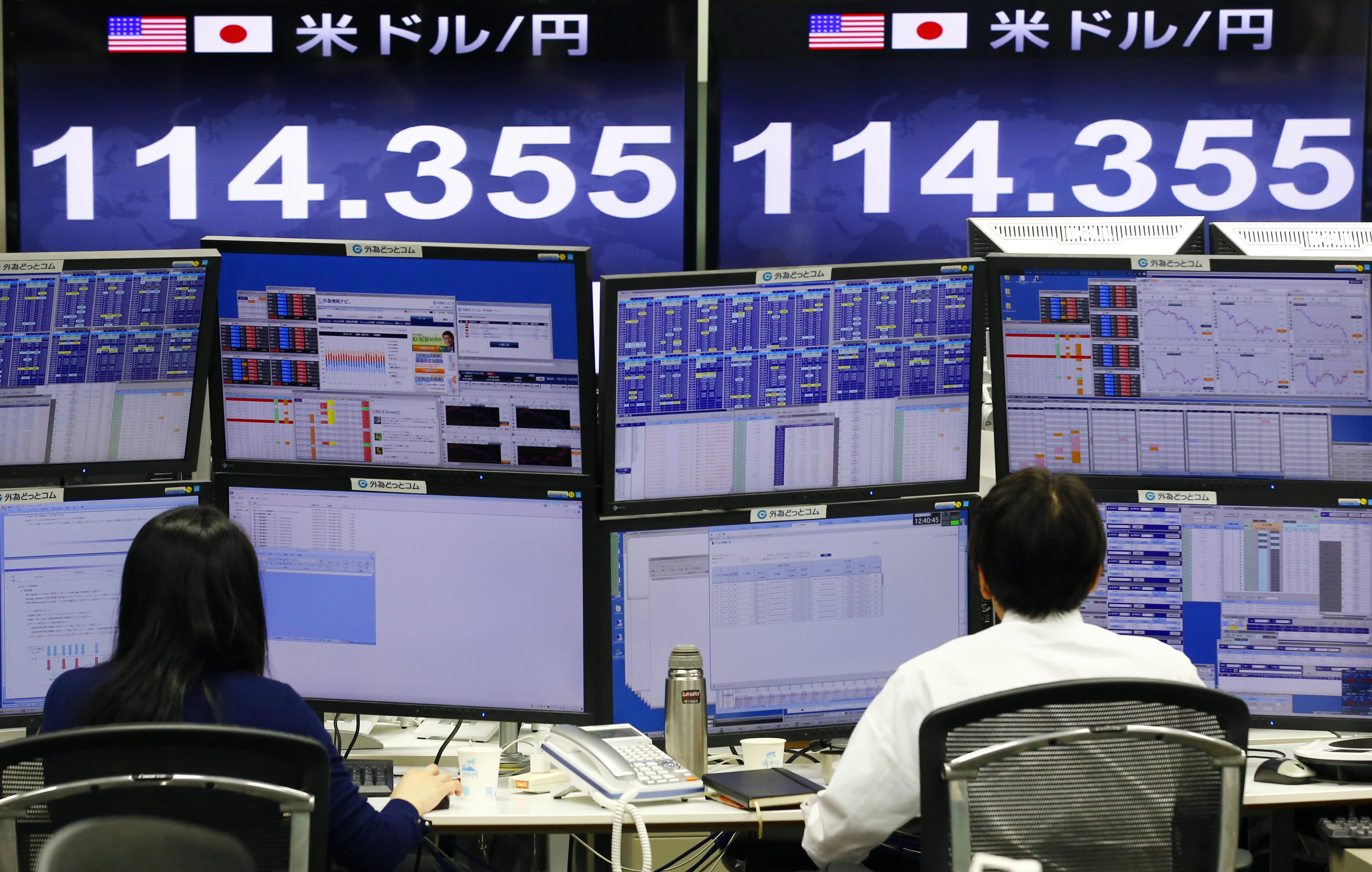 US stocks open slightly lower; Japan's market slumps