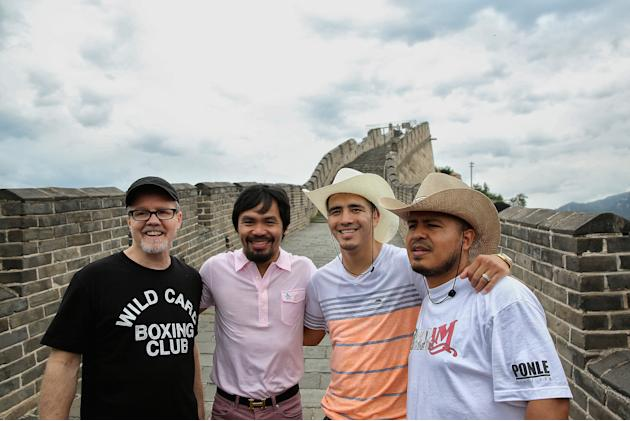 Manny Pacquiao and Brandon Rios Tour Beijing